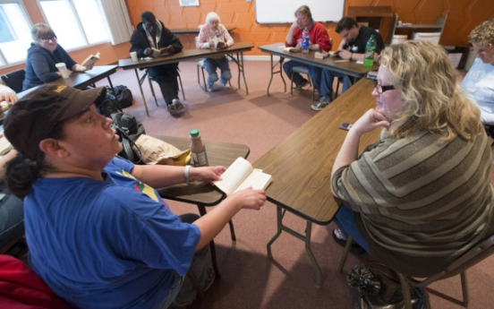 Finding  home in words: Book club serves homeless