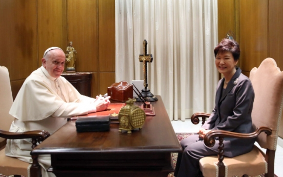 Park meets Pope, wraps up visit to Italy