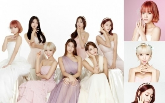 AOA stuns in pastel dresses