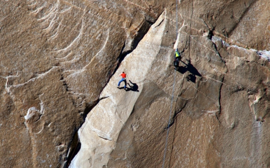 Two men attempt world's most difficult rock climb at Yosemite