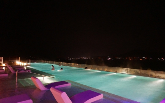 Lively music and spa at night on Jeju