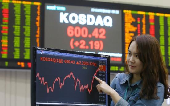KOSDAQ breaches 600