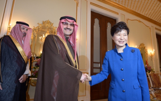 Park steps up sales diplomacy in Saudi Arabia
