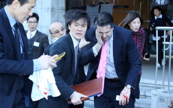U.S. envoy to Seoul injured in razor attack