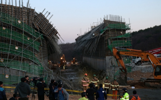 One dead, eight injured in road construction site collapse