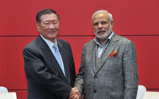 Korea, India to bolster ties in infrastructure, manufacturing