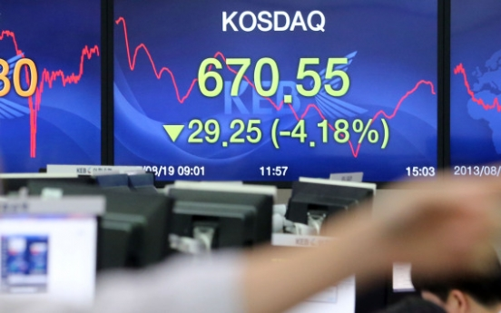 KOSPI falls to 6-month low
