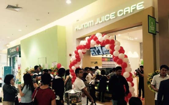 Hurom opens juice cafe in Malaysia