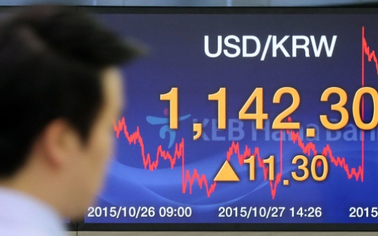 Korean won drops as U.S. Fed hints at rate hike