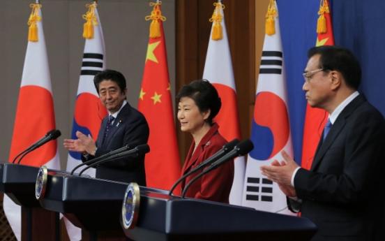 S. Korea, China, Japan agree to bolster cooperation, dialogue