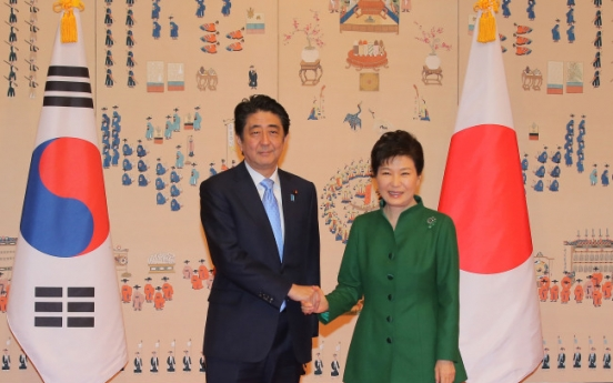 Park, Abe agree to speed up talks to resolve issue of former sex slaves