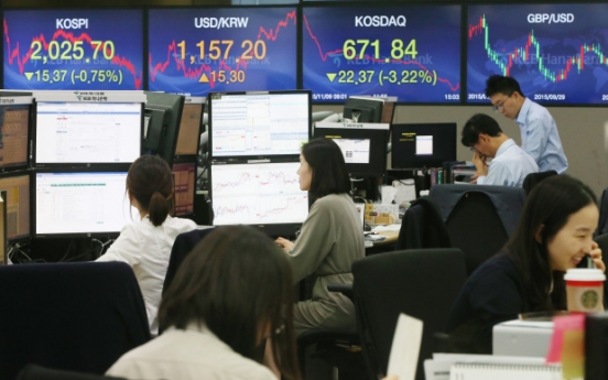Korean won falls to 1-month low
