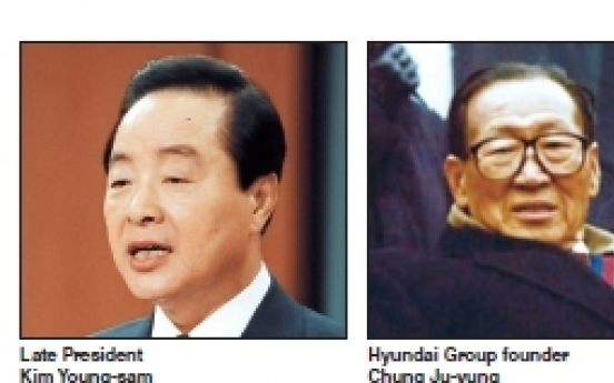 Ex-President Kim Young-sam's relations with superrich