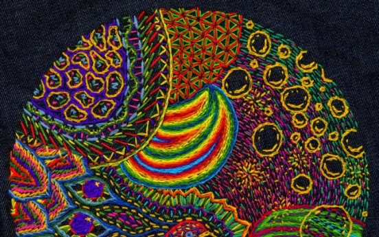 Embroidery artist brings nature's patterns to vivid life