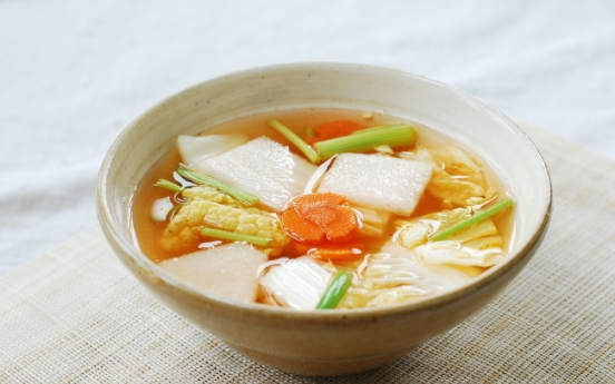 [Home Cooking] Nabak kimchi (water kimchi)