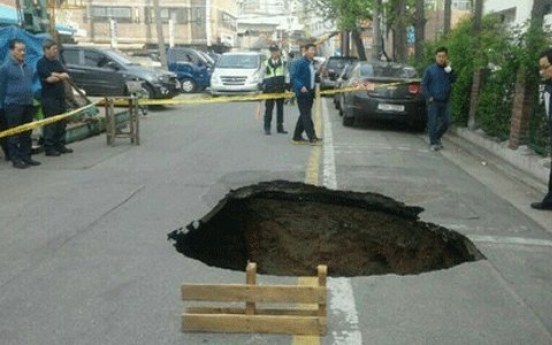 105 potential sinkholes in Seoul