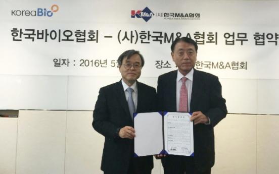 [Photo News] Korea's leading biotech body partners with M&A association