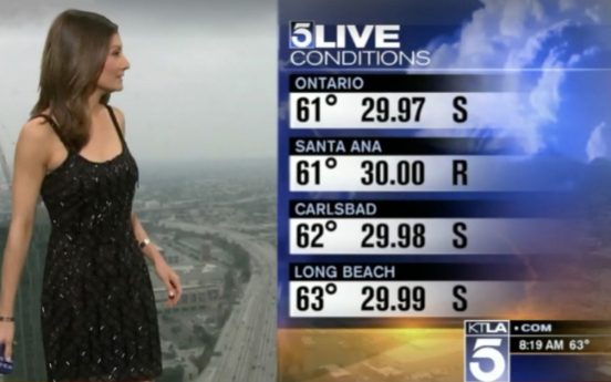 Weather anchor's dress sparks social-media firestorm