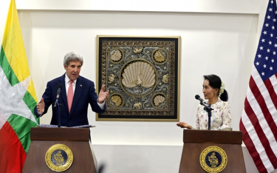 US Secretary of State Kerry urges further reforms in Myanmar