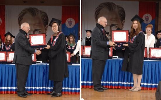 Korean siblings become valedictorians at top Turkish university