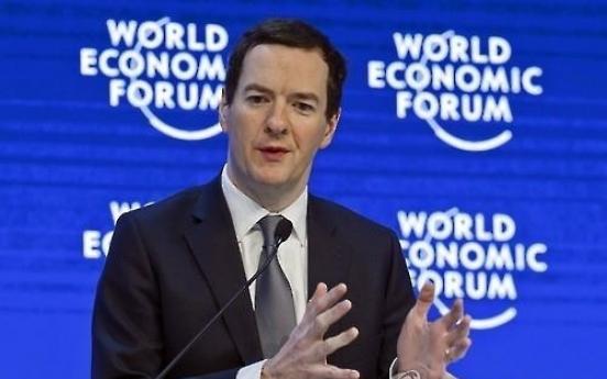 Osborne visits U.S. to urge investors to 'stick with' Britain
