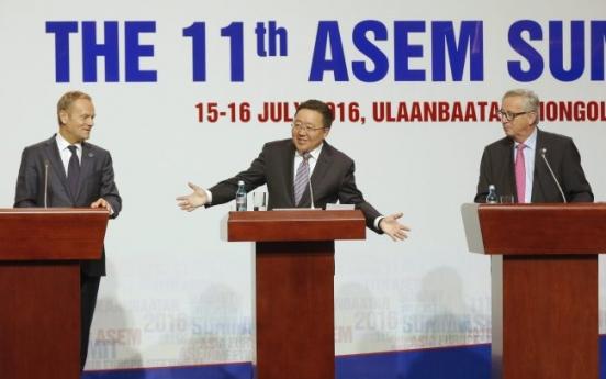 ASEM leaders condemn N.K. nuke, missile programs