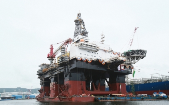 HHI delivers world's largest semi-submersible rig