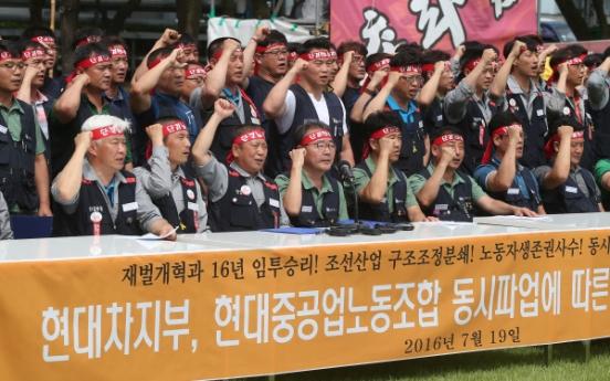 Hyundai Motor, HHI unions strike