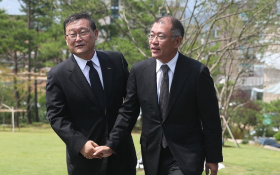 [Photo News] Hyundai Motor heir's tribute to Halla founder