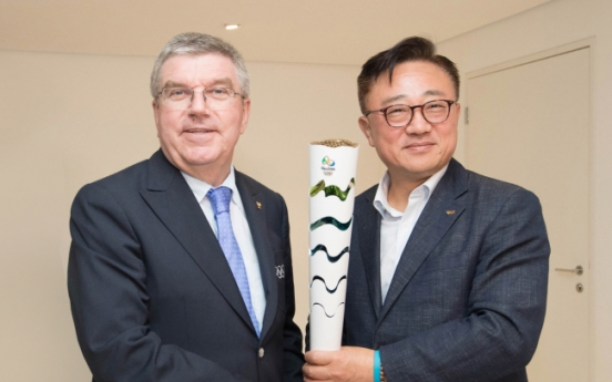 [Photo News] IOC chief visits Galaxy studio