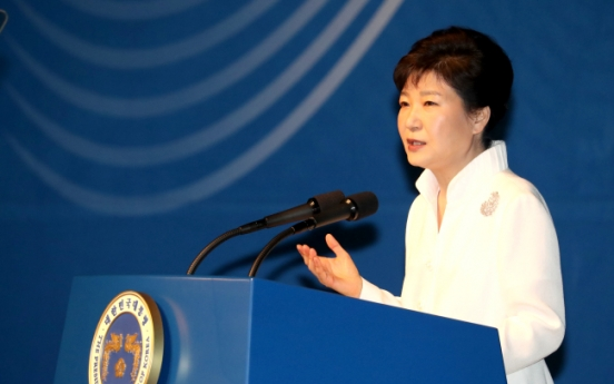 Park renews calls for N.K. to stop nuke development, provocations