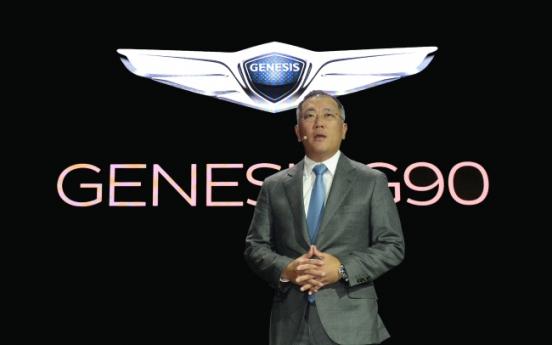 [HYUNDAI SUCCESSION] Genesis success to determine fate of Hyundai Motor heir Chung Eui-sun