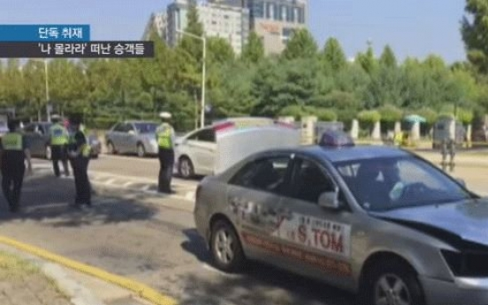Passengers leave taxi driver to die
