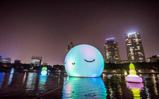 [Photo News] Lotte showcases 'Super Moon Project' in Jamsil