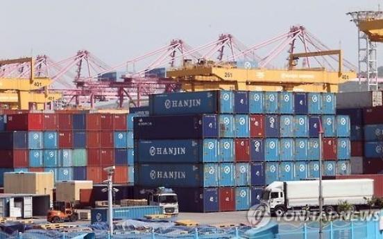 Exports drop amid Hanjin crisis