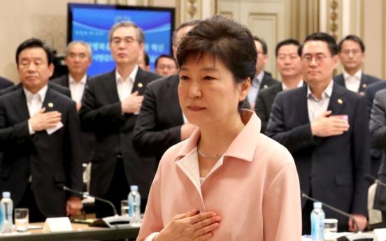 Park hosts workshop with senior gov't officials on N.K. nukes, economy