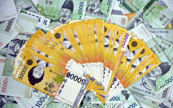 Korean households' cash reserves shrink in Q2