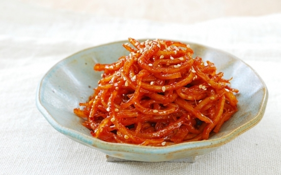 [Home Cooking] Ojingeochae muchim (dried squid)