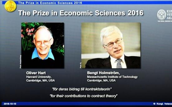 Oliver Hart, Bengt Holmstrom win Nobel prize in economics