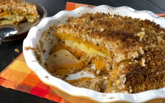 Parmesan sage potato gratin is lush without the cream