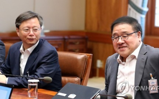 Park carries out reshuffle of key secretaries amid scandal