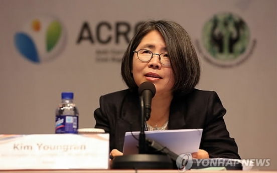 Kim Young-ran blasts Park over scandal