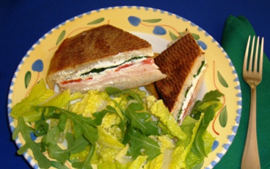 You don't need a panini press for this quick, savory sandwich