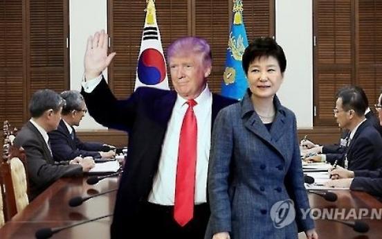 U.S. President-elect Donald Trump reaffirms Washington's security commitment to S. Korea