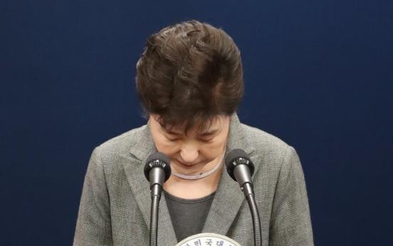 Park calls on parliament to decide her resignation