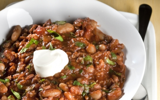 Chili you can make on the fly, enjoyed with sparkling or red wine