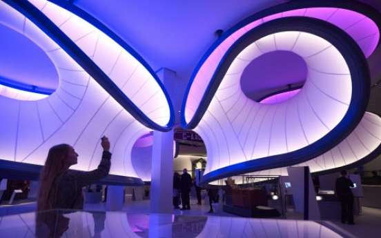 Math explored in new London gallery by Zaha Hadid