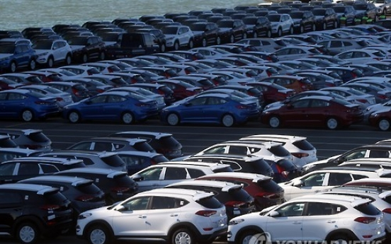 Korea's auto exports set to shrink for 2nd year