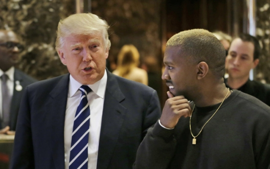 Kanye West emerges from hospital to meet Trump