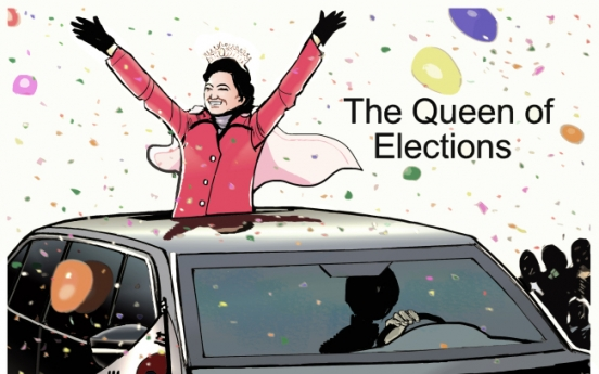 [Cartoon] Queen of elections